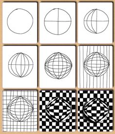 Drawing Op Art Lesson
