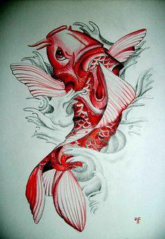 66 Mejores Imágenes De Pez Koi Dibujo Arm Tattoos Awesome