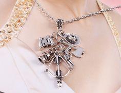 The Walking Dead Unique Charm Long Chain Pendant Necklace