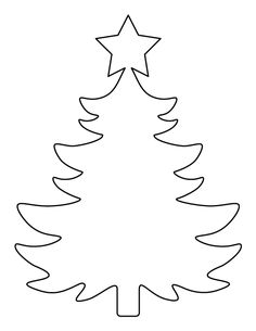 Printable large Christmas tree pattern. Use the pattern for crafts, creating stencils, scrapbooking, and more. Free PDF template to download and print at http://patternuniverse.com/download/large-christmas-tree-pattern/.