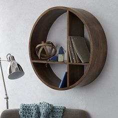 This looks cool: Made of solid mango wood in a warm honey finish, our Shape Wall Shelf features a versatile T-shaped divider that lets you hang it how you need it—a part storage piece, part display piece that's a creative twist on a classic wall shelf. Retro Furniture, Furniture Decor, Furniture Design, Wood Wall Shelf, Wall Shelves, Book Shelves, My Home Design, Looks Cool, Home Decor Inspiration