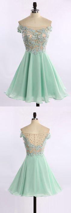 2016 homecoming dress, mint homecoming dress,lace homecoming dress,short homecoming dress,cute homecoming dress,elegant homecoming dress,modest homecoming dress