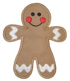 Gingerbread Applique @Mary Jane Dishion something cute could be done with this, too