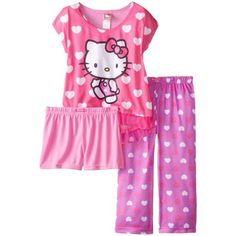 online shopping for Hello Kitty Big Girls' All Over Hearts Pajama Set from top store. See new offer for Hello Kitty Big Girls' All Over Hearts Pajama Set Hello Kitty Clothes, Hello Kitty Shoes, Hello Kitty Bag, Hello Kitty Collection, Sleepwear Sets, Girls Pajamas, Kawaii Clothes, Trendy Tops, Pajama Set
