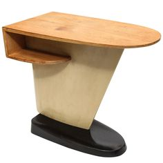Lacquered and stained wood occasional table - 1930's - Mueller Furniture Co. - designer KEM Weber.