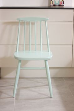 mint painted chair - love the paleness