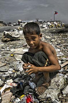 Portrait of a scavenger boy Manila Philippines