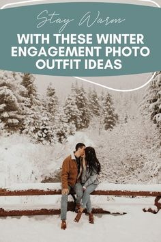 Stay warm with these winter engagement photo outfit ideas | Image by Jordan Voth