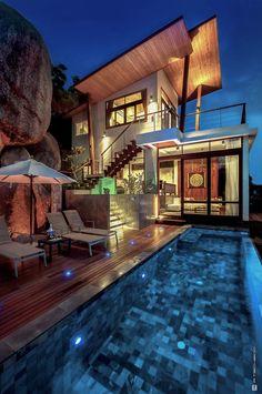 Private villa with your own pool in Koh Tao: Villas Del Sol Koh Tao, Ko Tao, Thailand ★★★★   affiliate link