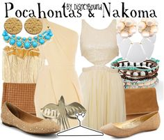 Disney Style: Pocahontas and Nakoma Disney Dress Up, Disney Pocahontas, Disney Girls, Disney Clothes, Disney Princess, Disney High, Disney Inspired Fashion, Character Inspired Outfits, Disney Fashion