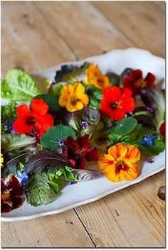 Nasturtiums add beauty and flavor.