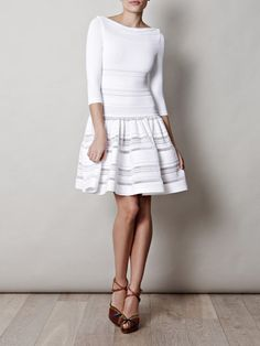 Alaia White Dress Acanthe knitted dress