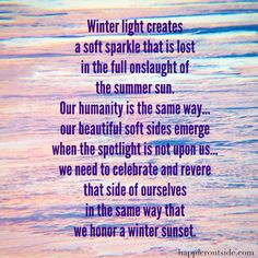 Winter light creates a soft sparkle... #happieroutside