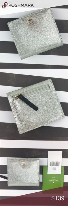 Kate Spade Silver Sparkle Mavis Street Serenade Kate Spade New York ♠️Silver Sparkle Mavis Street Serenade Wallet > Brand new with tags. JUST LISTED>> WILL ADD MEASUREMENTS ASAP! ❌Trades❌ kate spade Bags Wallets