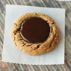 Chocolate Kissed Gingerbread Cookies-A must-make Christmas cookie! Can roll in red or green sugar for a festive treat.
