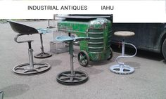 tractor bar table ANTIQUES INDUSTRIAL unique IAHU