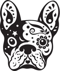french bulldog sugar skull, frenchie cute dog day of the dead, vector illustration design - stock vector Bulldogge Tattoo, Dog Stencil, Skull Stencil, Dog Skull, Stylo 3d, French Bulldog Tattoo, Sugar Skull Art, Sugar Skulls, Arte Pop