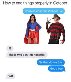 Couples Costume Idea For Us - Funny Memes. The Funniest Memes worldwide for Birthdays, School, Cats, and Dank Memes - Meme Stupid Funny Memes, Funny Cute, Funny Posts, Really Funny, Hilarious, Funny Stuff, Funniest Memes, Funny Troll, Funny Memes