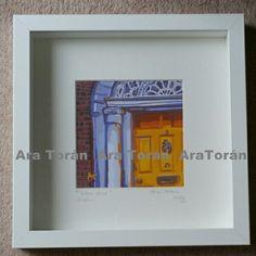 Digital Prints. Doors-yellow .Dublin  25.5 X 25.5 cm