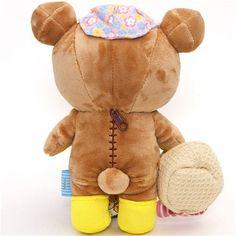 Rilakkuma plush toy brown bear with picnic basket 3