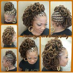Loc petals by NeciJones #blackwomen #hairstyle http://www.shorthaircutsforblackwomen.com/black-tea-rinse-for-hair/