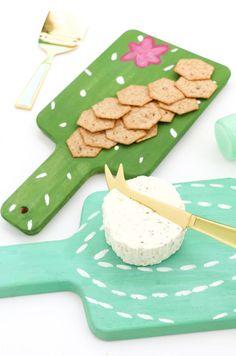 DIY Mini Cactus Cheese Boards