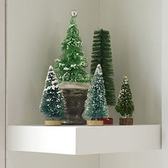 Vintage Christmas Decorations: Bottlebrush Christmas Trees - Vintage Christmas Decorations - Southern Living