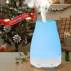 EShing 100ML Aromatherapy Essential Oil Diffuser Portable Ultrasonic Cool Mist Aroma Humidifier with 4 Timer Settings 7 LED Color Changing Lamps and Waterless Auto Shut-off Function for Christmas Spa Yoga Office Bedroom Baby Room EShing http://www.amazon.ca/dp/B0196S8MZG/ref=cm_sw_r_pi_dp_hheBwb1CZ5J3Y