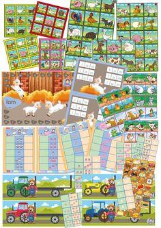 spellenpakket boerderij alle spellen, kleuteridee.