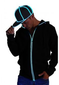 593c397dd22 Light-up Snapback Hat - Ultra Bright el wire on black hat available in 4