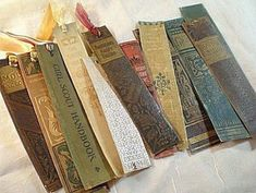 Awesome recycled book spine page markers paint stir sticks lamp shade (projects,… - Reduce Reuse Recycle Old Book Crafts, Book Page Crafts, Diy Old Books, Idea Books, Book Page Art, Craft Books, Craft Art, Art Crafts, Decor Crafts