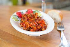 Ratatouille mit Paprika, Aubergine und Zucchini
