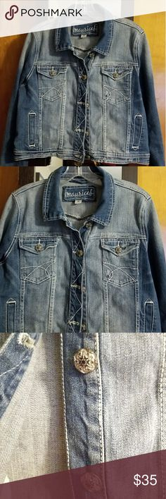 Maurices Cropped Denim Jacket Med Wash EUC, smoke free home, no flaws! Maurices Cropped Denim Jacket. Medium wash, cute buttons. Maurices sz0. (Plus) Jackets & Coats