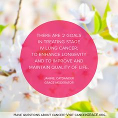 Visit cancerGRACE.org to have your cancer questions answered by patients, survivors and top oncologists.