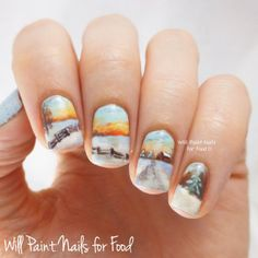 A Snowy Country Landscape + Tutorial - Will Paint Nails for Food