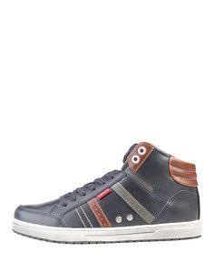 Levi's scarpe uomo - sneakers stringate alte  - tomaia in materiale sintetico - interno tessuto e materiale sintetico, s - Sneaker uomo 224180 1794 Blu