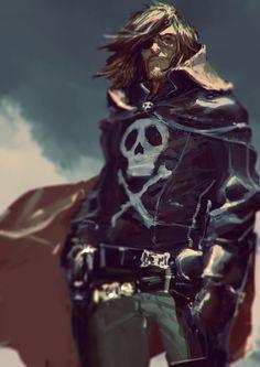 bassman5911:  Captain Harlock / Albator Fan art by AldgerRelpa