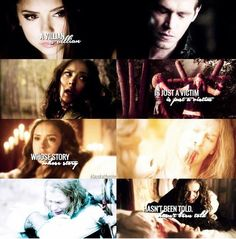 """#TVD #TO The Vampire Diaries,The Originals Katherine & Klaus """"A villian is just a victim whose story hasn't been told."""""""