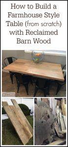 Hand Made Farmhouse Style Barn Wood Table