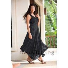 Cute Hippie Clothes - Norma Jean Empire Waist Lace & Floral Chiffon Boho Maxi Sun Dress