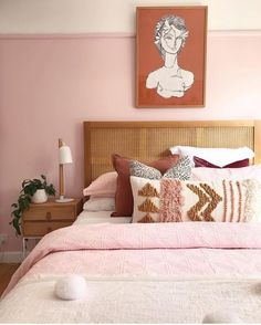 Don't give up on millennial pink just yet, here's 12 spaces that will have you opting for blush hues for your home - bedroom inspirations Home Bedroom, Bedroom Decor, Bedroom Ideas, Modern Bedroom, Shabby Bedroom, Pretty Bedroom, Bedroom Designs, Summer Bedroom, Bedding Decor