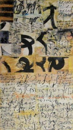 Laura Wait - asemic writing