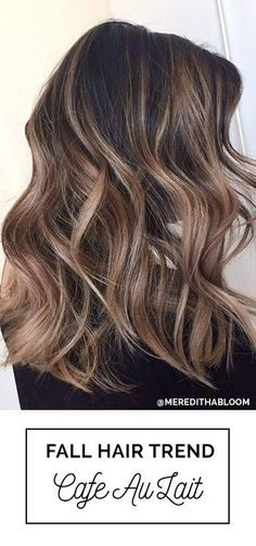 Perfect Fall Hair Color For Brunettes with Balayage with Soft Highlights Cafe Au Lait Fall Hair Color Trend For Brunettes by Meredith Johnson, Abloom Salon with Oway Hcolor Brunette Color, Balayage Brunette, Brunette Hair, Fall Balayage, Soft Balayage, Bayalage, Winter Hairstyles, Cool Hairstyles, Latest Hairstyles