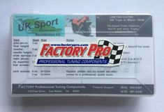 Factory Pro Needle and Jet Kit