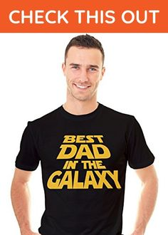 Retreez Funny Best Dad in the Galaxy Father Day Gift Graphic Printed Unisex Men T-shirt Tee, Father's Day Gift - Black - Medium - Funny shirts (*Amazon Partner-Link)