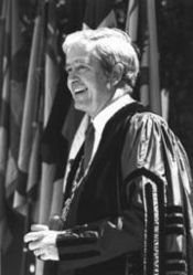 Kingman Brewster, 1919-1988. educator, former pres.. of Yale University, diplomat.