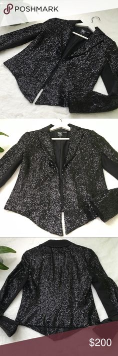WORTH Black Sequin Blazer Excellent Preloved Condition! •100% Polyester •Spot Clean Worth Jackets & Coats