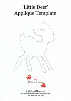 Little Deer Applique Template