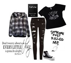 """""""Hoodie"""" by little-miss-emo-girl ❤ liked on Polyvore featuring River Island, Converse and House Of Voltaire"""