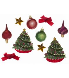 Jolee's Christmas Embellishments 10/Pkg Ornaments and TreesJolee's Christmas Embellishments 10/Pkg Ornaments and Trees,